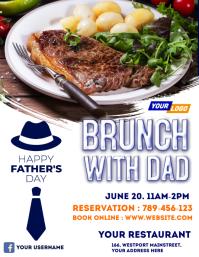 Father's day restaurant flyer Folder (US Letter) template