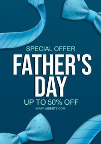 FATHER'S DAY RETAIL SALE Design Template A4