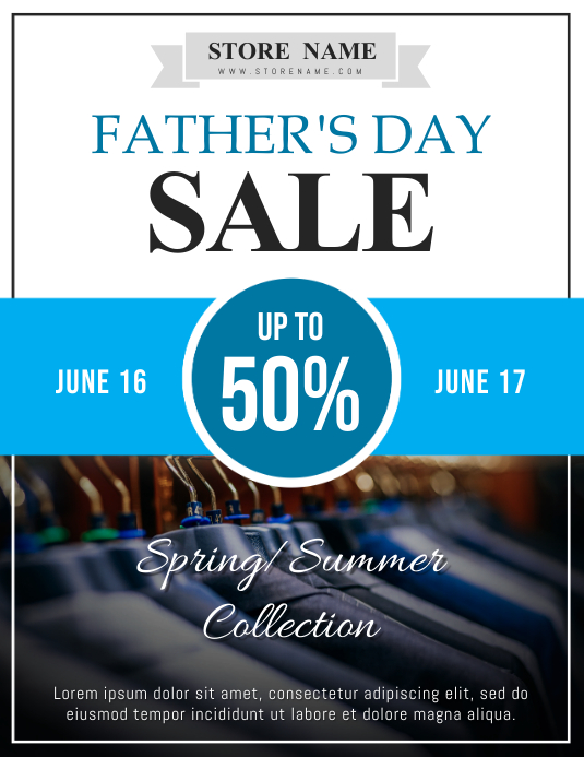 Father's Day Retail Sale Flyer Template