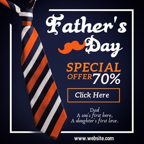 Father's Day Retail Sale Template Instagram Post