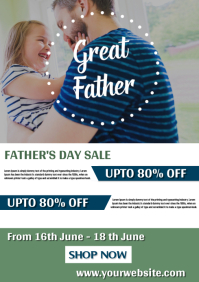 Father's Day Sale Banner Template