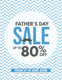 Father's Day Sale Coupon Discount Poster Flyer Template Рекламная листовка (US Letter)