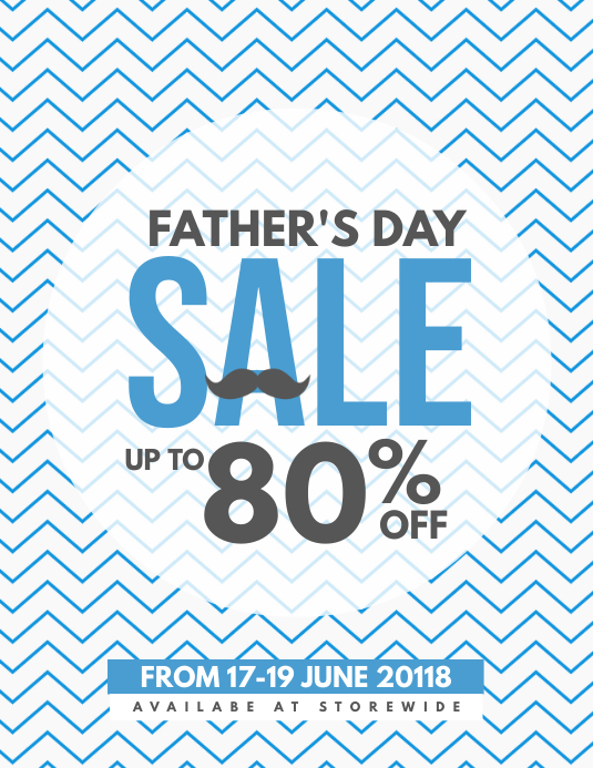 Father's Day Sale Coupon Discount Poster Flyer Template