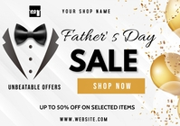 Father's Day sale A3 template