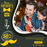 Father's Day Sale Сообщение Instagram template