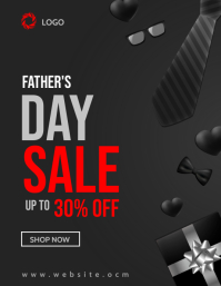 Father's Day sale Flyer (US Letter) template