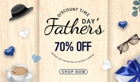 Father's Day sale Tag template