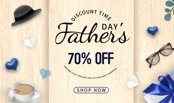 Father's Day sale 标记 template