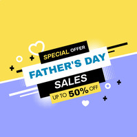 Father's Day Sale Message Instagram template