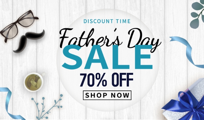 Father's Day sale Tanda template
