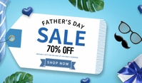 Father's Day sale Etykietka doczepna template