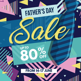 Father's Day Sale Discount Poster Flyer Template