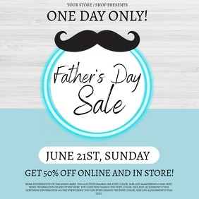 Father's Day Sale Event Flyer Template Cuadrado (1:1)