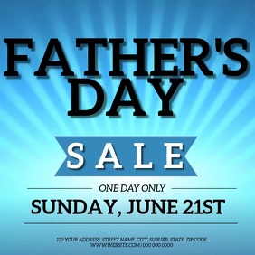 Father's Day SALE Event Flyer Template Квадрат (1 : 1)