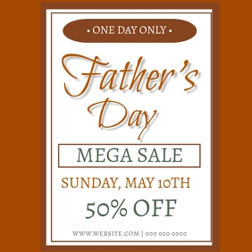 Father's Day SALE Event Flyer Template
