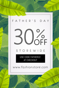 Father's Day Sale Event Poster Template 海报