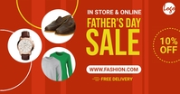 Father's day sale facebook ad Facebook-Anzeige template