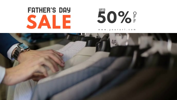 Father's Day Sale Facebook Cover Video Template