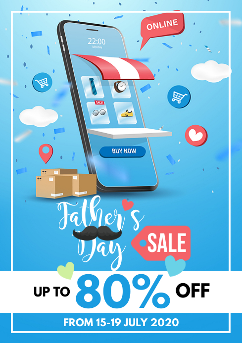 Father's Day Sale Flyer A4 template