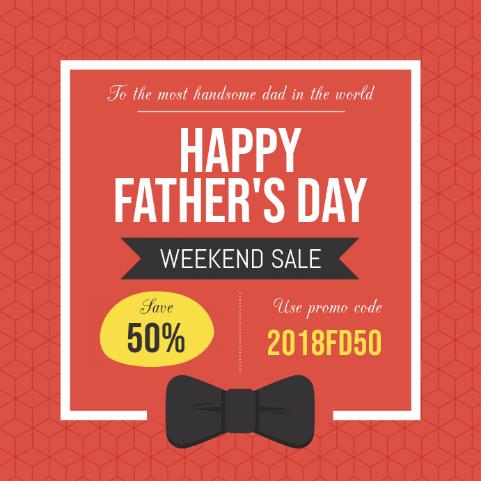 Father's Day Sale Instagram post Template