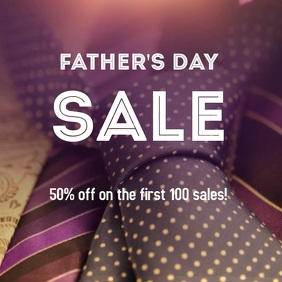 Father's Day Sale Post Album Cover template
