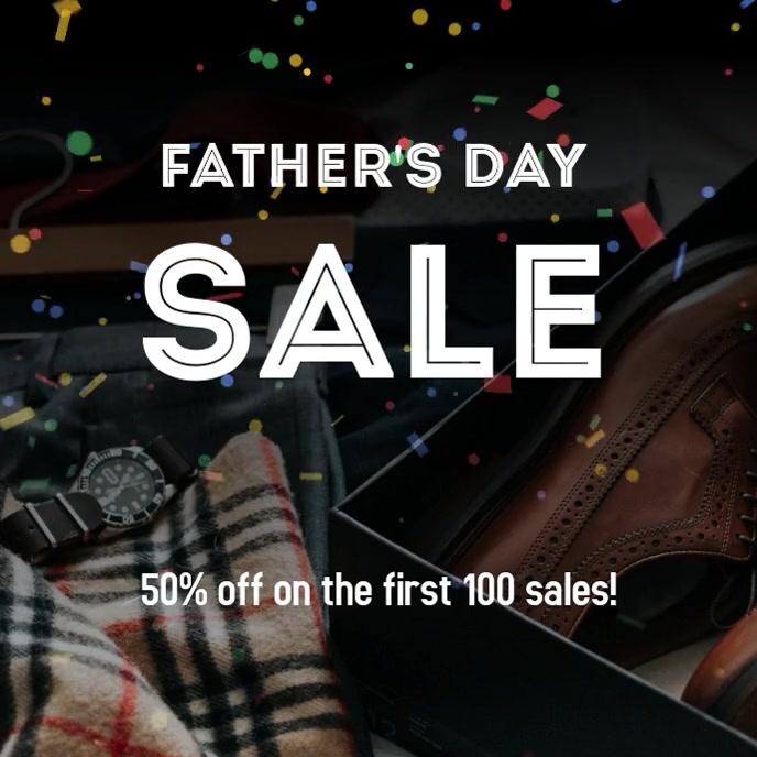 Father's Day Sale Post Capa de álbum template
