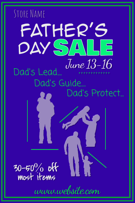 Father's Day Sale Poster