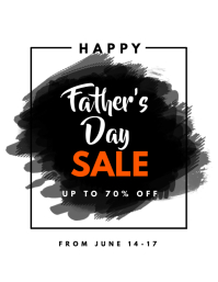 Father's Day Sale Poster Flyer Template