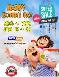 Father's Day Sale Template Volante (Carta US)