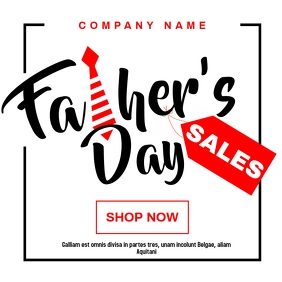 Father's day sales advertisement