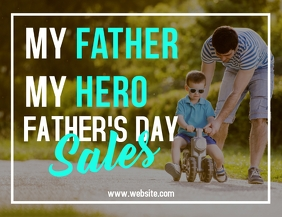 father's day sales advertisement flyer