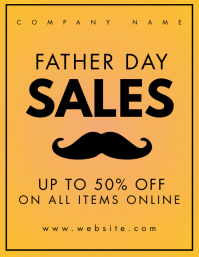 father's day sales Pamflet (Letter AS) template