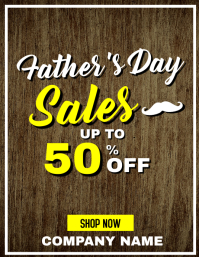 Father's day sales up to 50% off Pamflet (Letter AS) template
