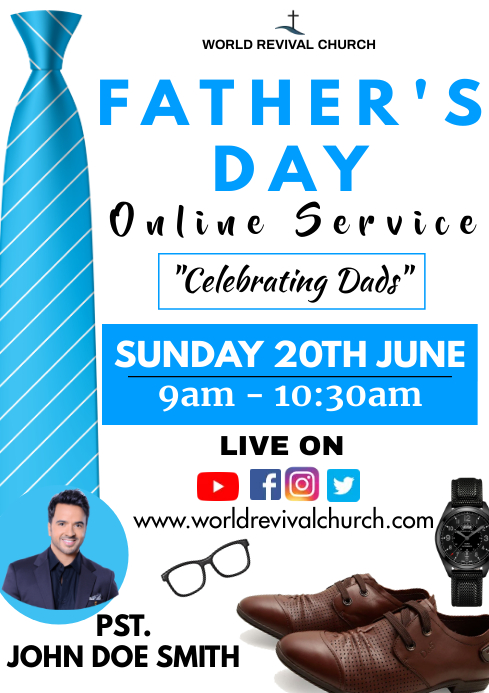 Father's day service A3 template