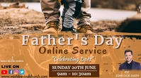 Father's day service Digital Display (16:9) template