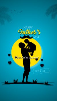 Father's Day social media post Instagram-verhaal template