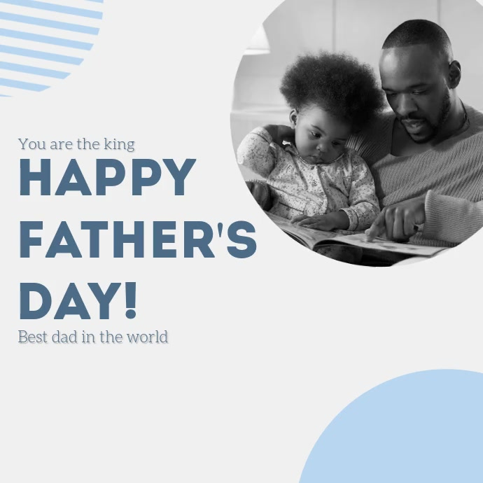 Father's Day social media post template