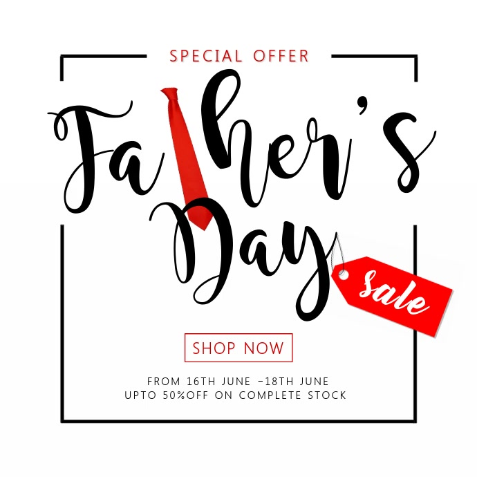 Father's Day Special Sale Video Template Square (1:1)