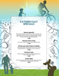 Father's Day Specials Menu flyer Template