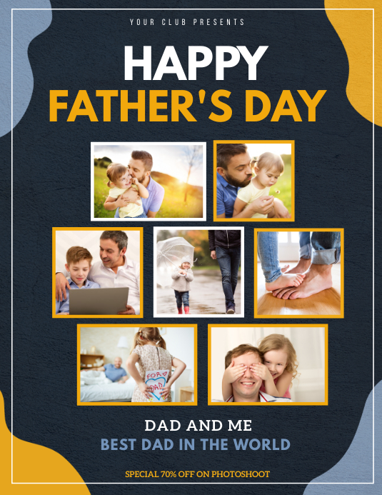 Father's day template,Dad and me flyers