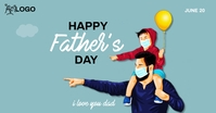 Father's Day template Facebook-Anzeige