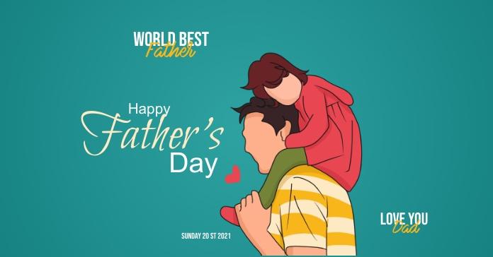 Father's Day template Publicité Facebook