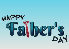 Father's day text ไปรษณียบัตร template