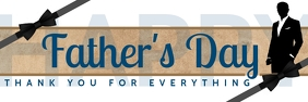 Father's Day Thanks Giving Template Banner 2' × 6'