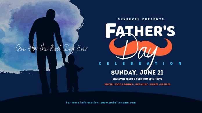 Father's Day Twitter Post Image template