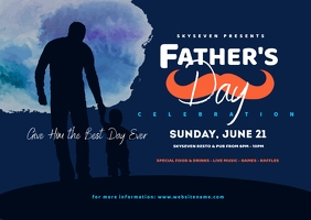 Father's Day Twitter Postcard Postkort template