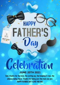 father's day video A4 template