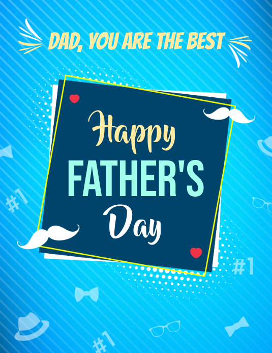 Father's Day Wish Flyer Template Volantino (US Letter)