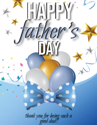 Father's day Wishes card Design Template Flyer (US Letter)