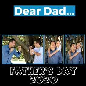 FATHER'S DAY WISHES VIDEO DIGITAL TEMPLATE